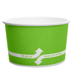 Karat 20oz Hot Cold Paper Food Containers - Green (127mm)