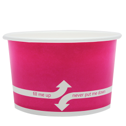 Karat 20oz Hot Cold Paper Food Containers - Pink (127mm)