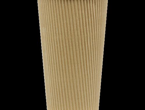 Karat 20oz Ripple Paper Hot Cups - Kraft (90mm)