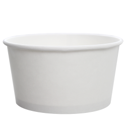 Karat 24oz Hot Cold Paper Food Containers - White (142mm)