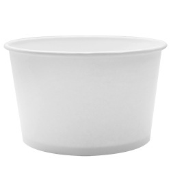 Karat 28oz Hot Cold Paper Food Containers - White (142mm)