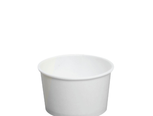 Karat 4oz Hot Cold Paper Food Containers - White (76mm)