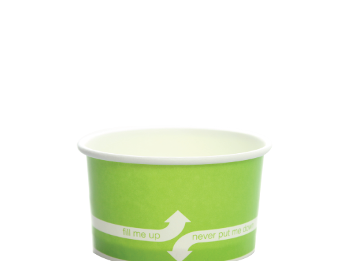 Karat 5oz Hot Cold Paper Food Containers - Green (87mm)