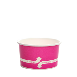 Karat 5oz Hot Cold Paper Food Containers - Pink (87mm)