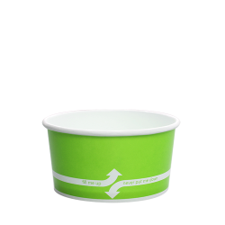 Karat 6oz Hot Cold Paper Food Containers - Green (96mm)