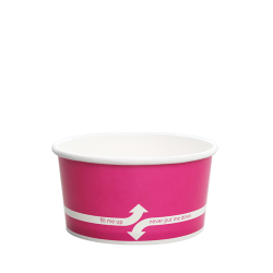 Karat 6oz Hot Cold Paper Food Containers - Pink (96mm)