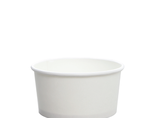 Karat 6oz Hot Cold Paper Food Containers - White (96mm)