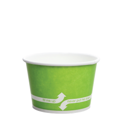 Karat 8oz Hot Cold Paper Food Containers - Green (95mm)