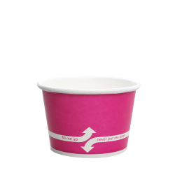 Karat 8oz Hot Cold Paper Food Containers - Pink (95mm)