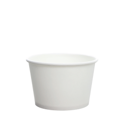 Karat 8oz Hot Cold Paper Food Containers - White (95mm)