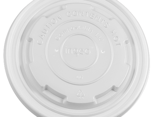 Karat Earth 12-16oz Compostable Paper Food Container Flat Lids (114.6mm)