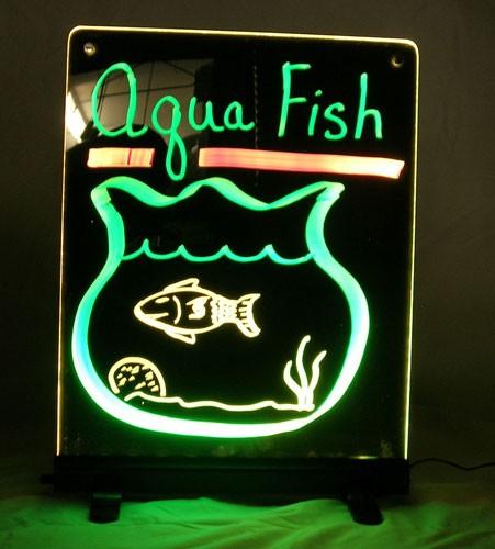 Writable Illuminated LED Sign - Black (12 x 16)