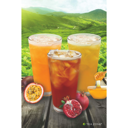 flavored bubble tea poster