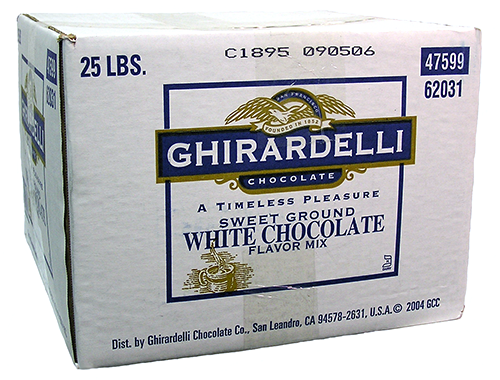 sweet ground white choco powder 25 lbs