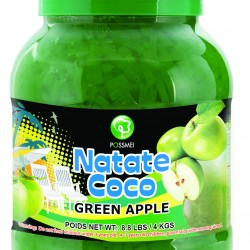 green apple boba bubble tea jelly