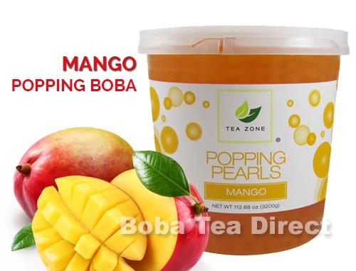 mango popping bursting boba balls