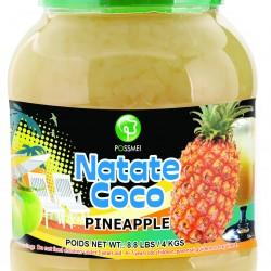 pineapple boba bubble tea jelly