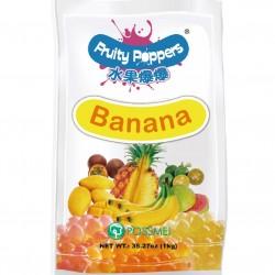 banana fruity popper popping bursting boba pouch
