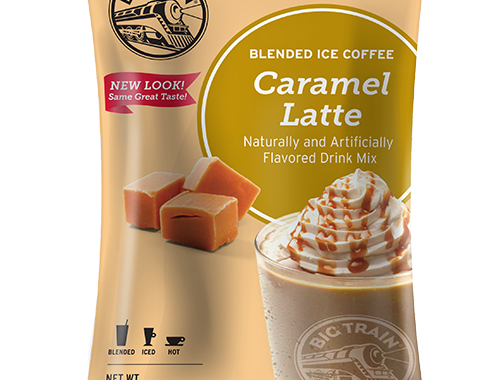 Big Train Caramel Latte Blended Ice Coffee Mix