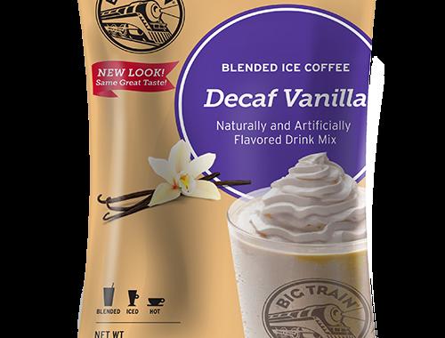 Big Train Decaf Vanilla Blended Ice Coffee Mix