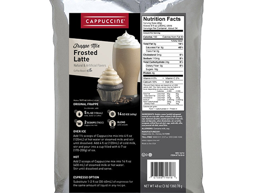 Cappuccine Frosted Latte Frappe Mix