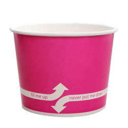 Karat 16oz Hot Cold Paper Food Containers - Pink (112mm)
