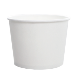 Karat 16oz Hot Cold Paper Food Containers - White (112mm)