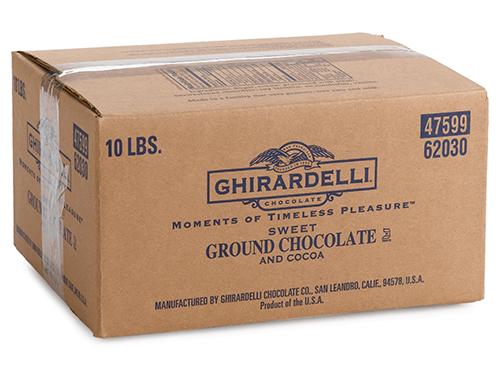 sweet ground chocolate