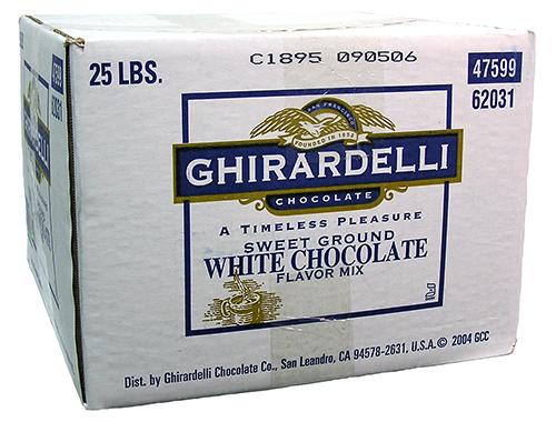 sweet ground white choco powder 25 lbs
