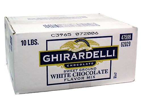 sweet ground white choco powder